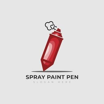 Логотип карандаш и баллончик граффити векторная иллюстрация