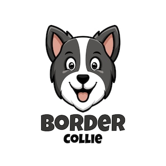 Logo for pet shop, pet care or your own dog with border collie