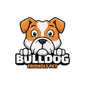 Logo for pet shop, pet care or your own dog with bulldog