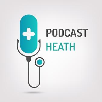 Logo podcast health