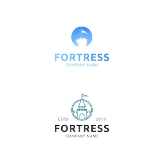Logo premium fortress