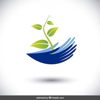 Логотип защитить окружающую среду для того