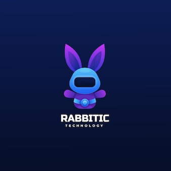 Logo rabbit gradient colorful style