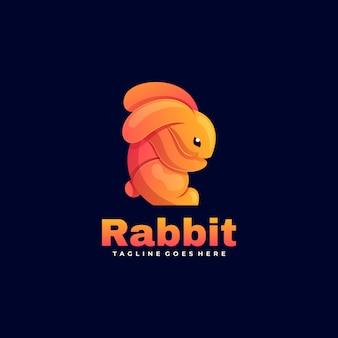 Логотип кролик градиент красочный стиль.