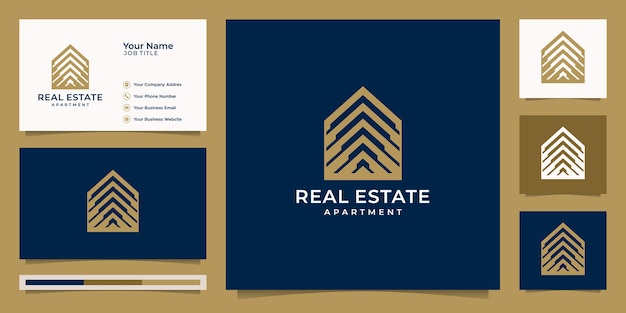 Логотип недвижимости для строительства, дома, квартиры, современного дома