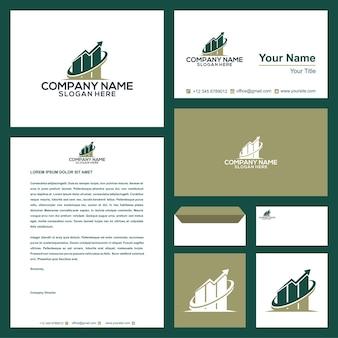 Логотип недвижимостивилла на визитной карточке премиум векторы