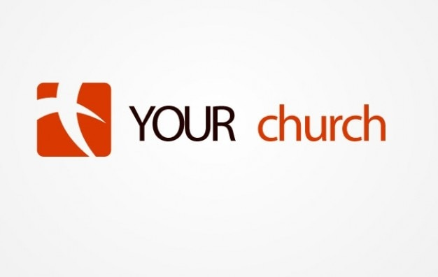 Logo red square your church
