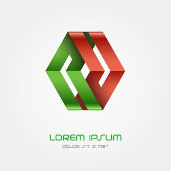 Logo ribbon, hi tech looped infinity logotype.