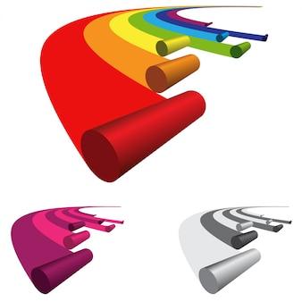 Logo roll rainbow