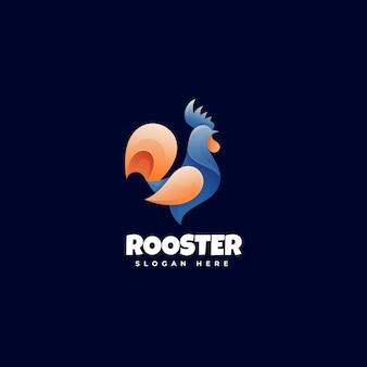 Логотип петух градиент красочный стиль