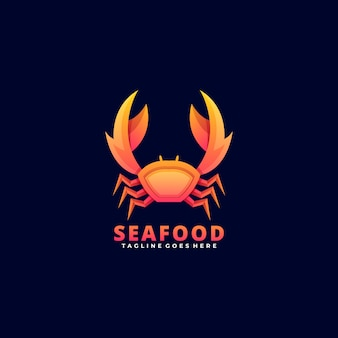 Logo  seafood gradient colorful style.