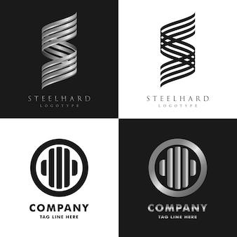 異なるコンセプトのロゴセットコレクション
