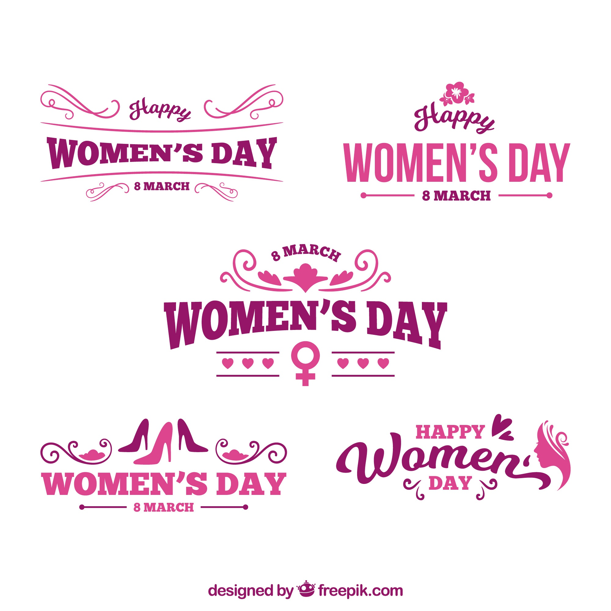 Logo set for womans day