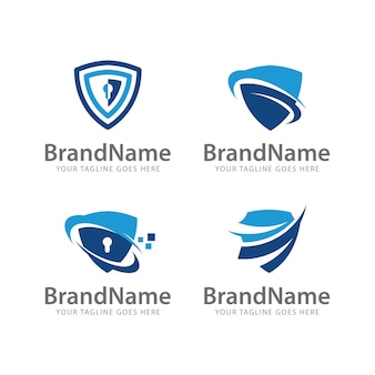 Logo shield protection template
