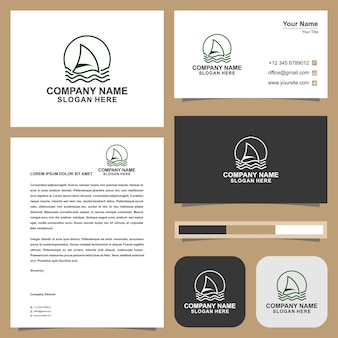 Logo ship and business card