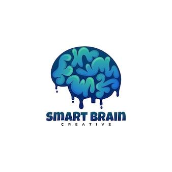 Logo  smart brain gradient colorful style.