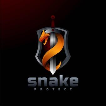 로고 뱀 그라데이션 다채로운 스타일.