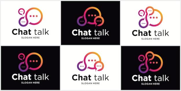 로고 말풍선 아이콘 로고 벡터 일러스트 채팅 커뮤니케이션 로고 디자인 벡터 채팅 앱