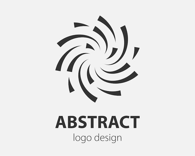 ロゴのスパイラルと渦巻きの動き。会社のベクトルツイストサークルデザイン要素。
