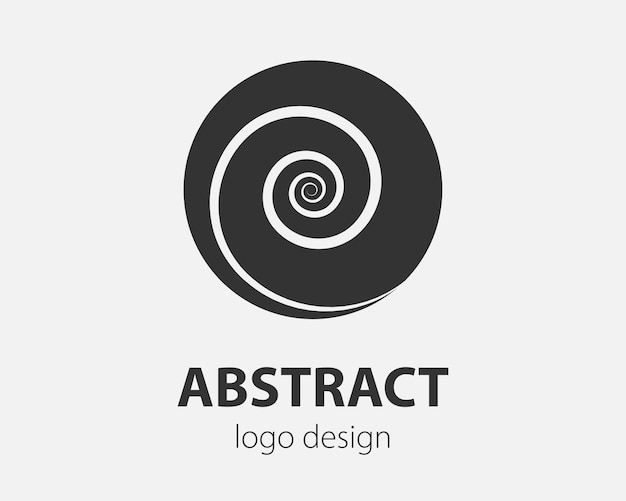 Logo spiral and swirl motion. vector twisting circles design element for company.