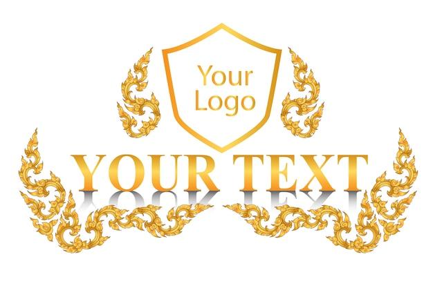 Logo style and solgan thai vintage