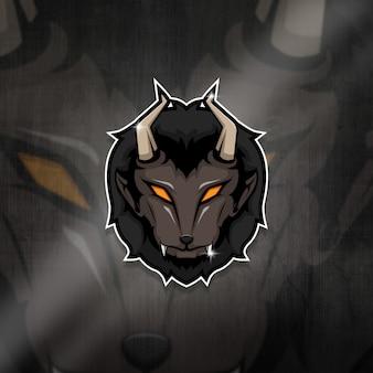 Киберспортивный талисман logo team beast squad