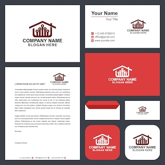 Logo tech home  and business card