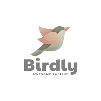 Logo template of bird gradient colorful style