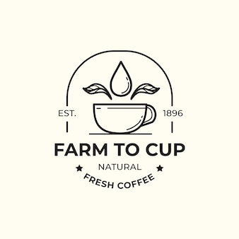 Logo template for coffee business design