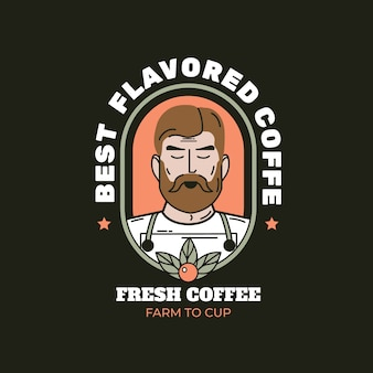 Logo template for coffee business theme