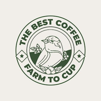 Logo template for coffee shop