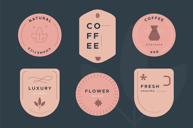 Logo template collection in retro style