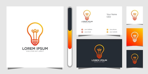 Logo template design and business card