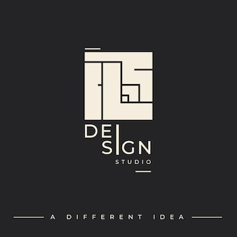 Logo template for design studio