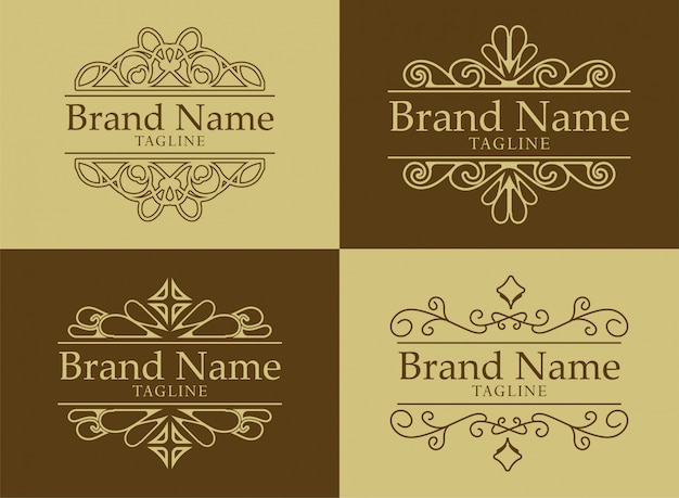 Logo template flourishes calligraphy elegant ornament lines. business sign, identity for restaurant, royalty, boutique, cafe, hotel, heraldic, jewelry,