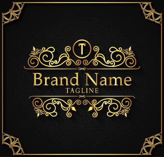 Logo template flourishes calligraphy elegant ornament lines.