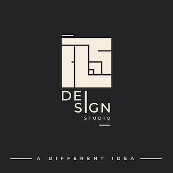 Шаблон логотипа для дизайн-студии