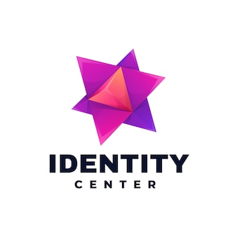 Logo template of identity center gradient colorful style