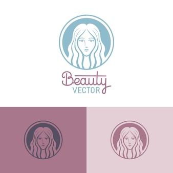 Шаблон логотипа в модном линейном стиле