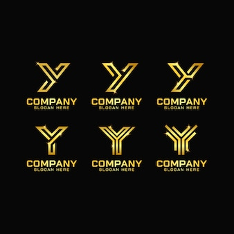 Logo template letter y