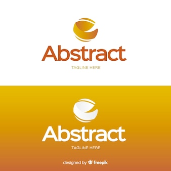 Logo template for light and dark background