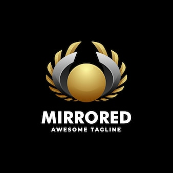Logo template of mirror gradient colorful style