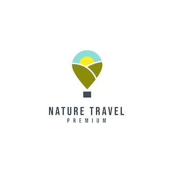Logo template of nature travel