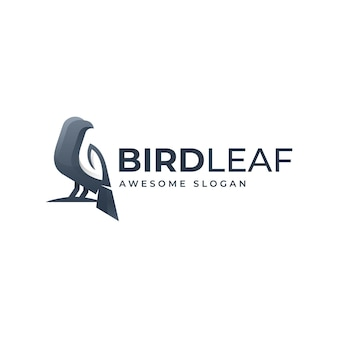Logo template of night bird gradient colorful style
