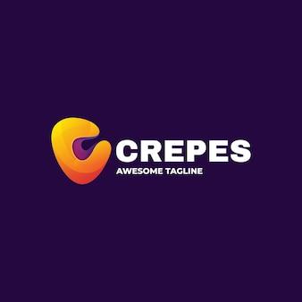 Шаблон логотипа crepes gradient colorful style