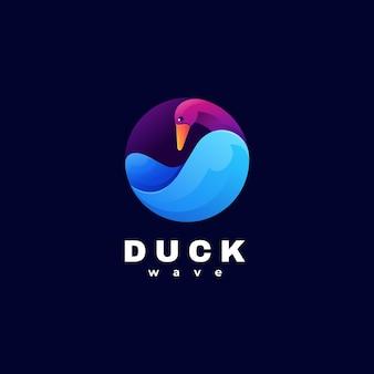 Шаблон логотипа duck gradient colorful style