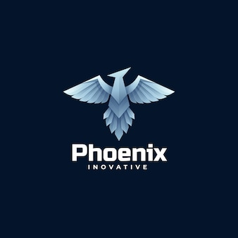 Logo template of phoenix gradient colorful style