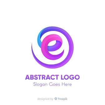 Logo template with abstract shapes