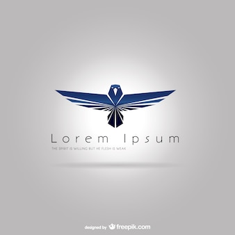 Logo template with blue eagle