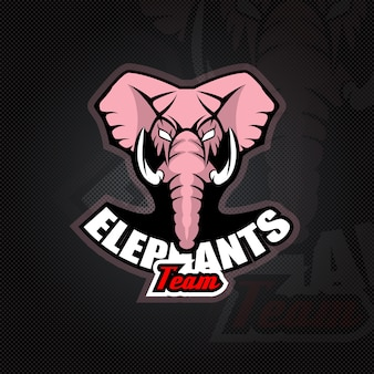 Шаблон логотипа с головой слона.